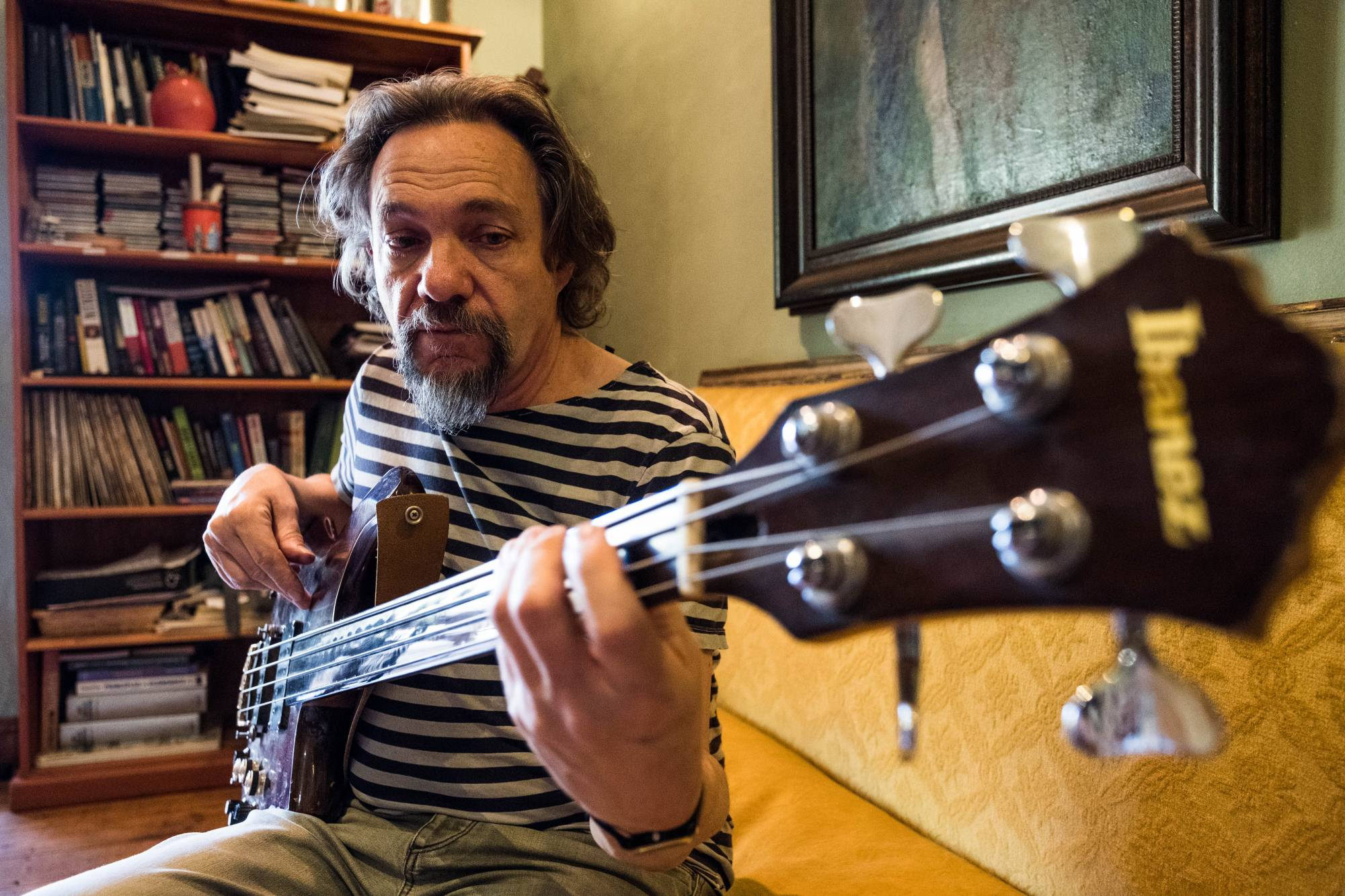 Carlo Mombelli at his home in Johannesburg, 2017 (Image: Earl Abrahams)