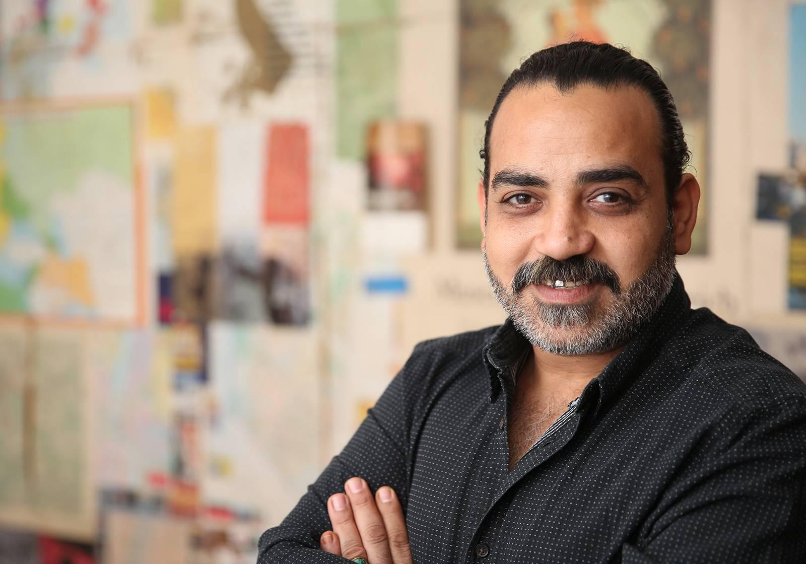 Hamdy Reda at Studio Artellawa, Cairo, 2017 (Image: Mostafa Abdel Aty)