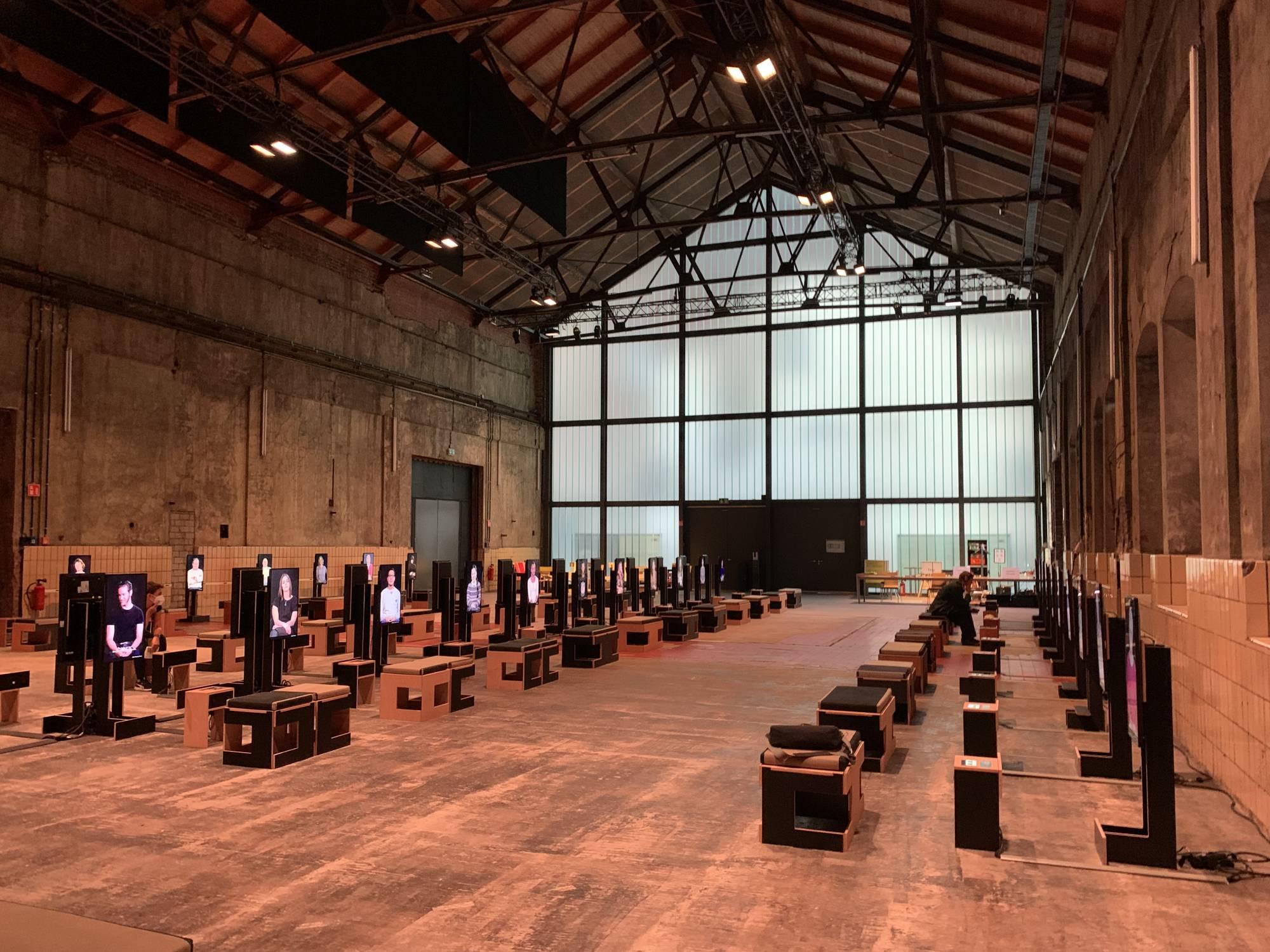 Bochum, Turbinenhalle bei der Jahrhunderthalle, Ruhrtriennale, August 2021